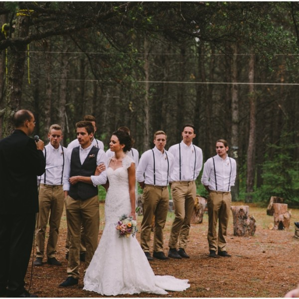 Manitoba Rustic Forest Wedding