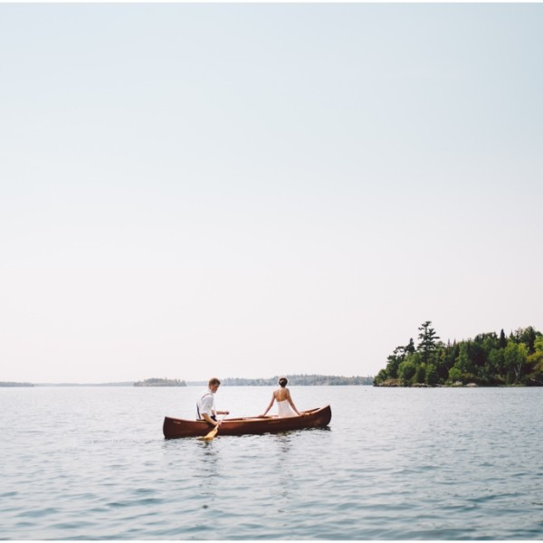 Nautical Island Wedding Lake of the Woods