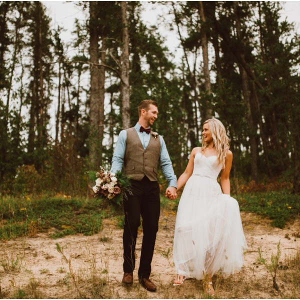 Outdoor Prairie Tent Wedding - Jordan and Becki