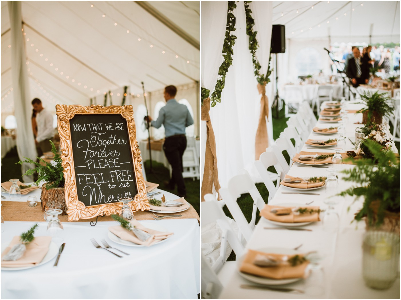 Outdoor Tent Wedding in Manitoba