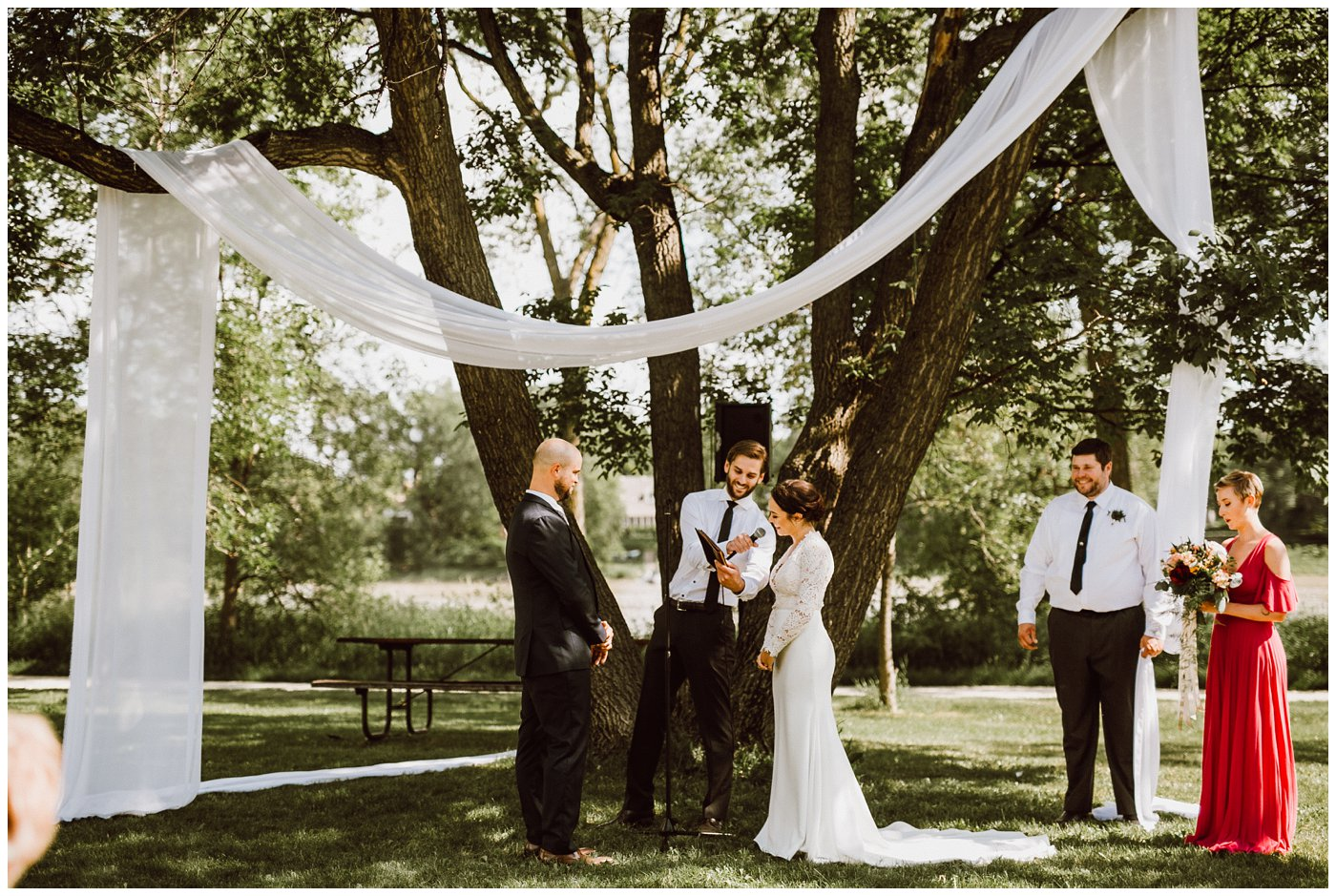 Outdoor Wedding Ceremony Winnipeg