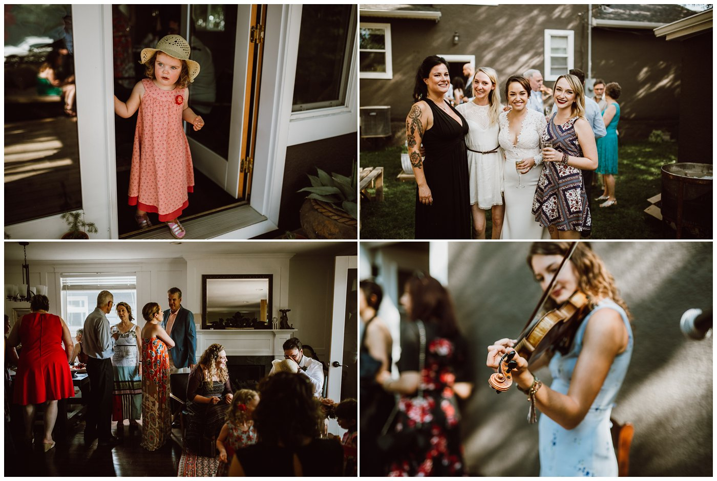 Osborne Backyard Wedding Winnipeg
