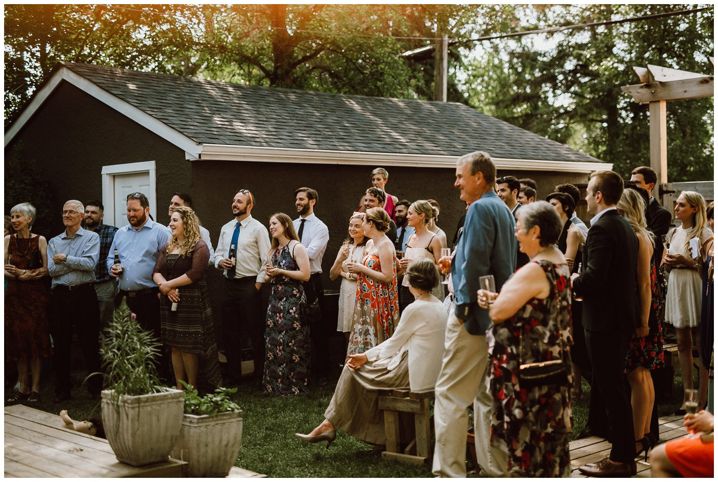 Backyard Wedding in Winnipeg