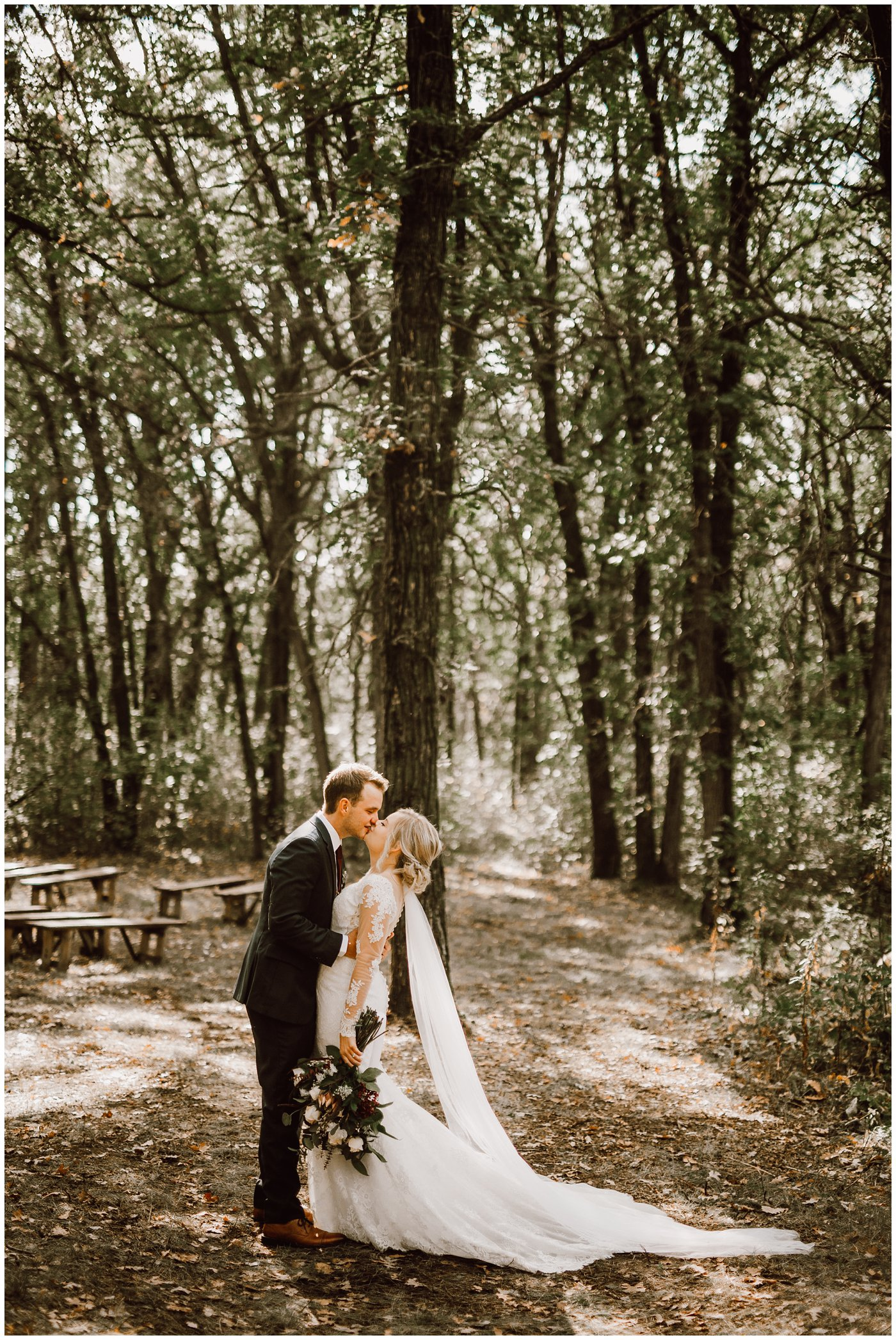 Intimate Fall Forest Wedding