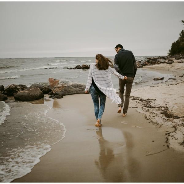 Engagement Photos at Victoria Beach