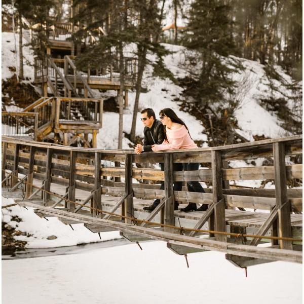 Whiteshell Engagement in Winter