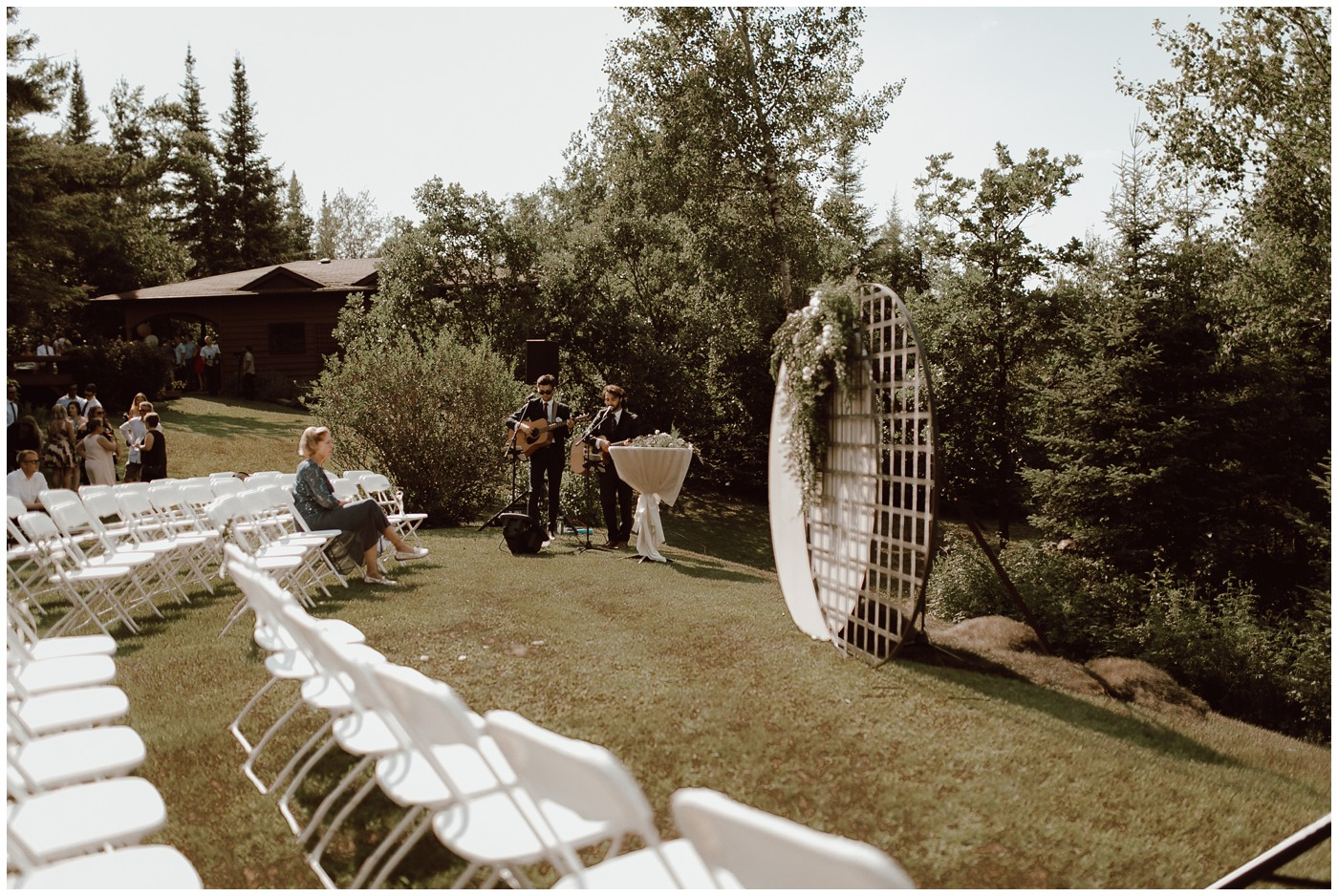 Lake of the Woods Clear Tent Wedding