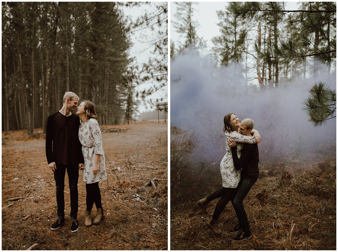 Smoke Bomb Engagement Session1878