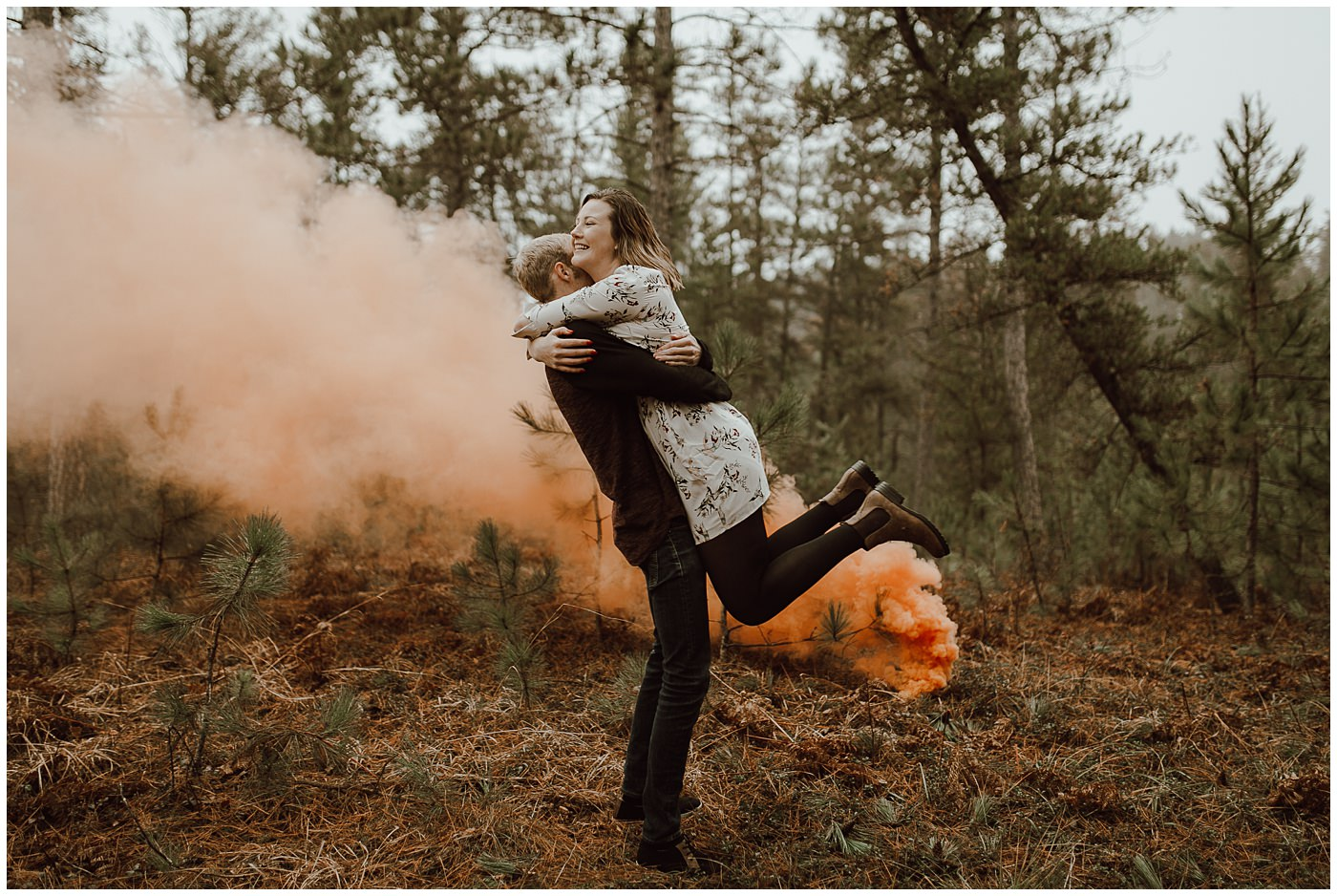 Smoke Bomb Engagement Session1883