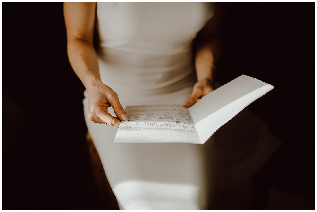 Bride love letter