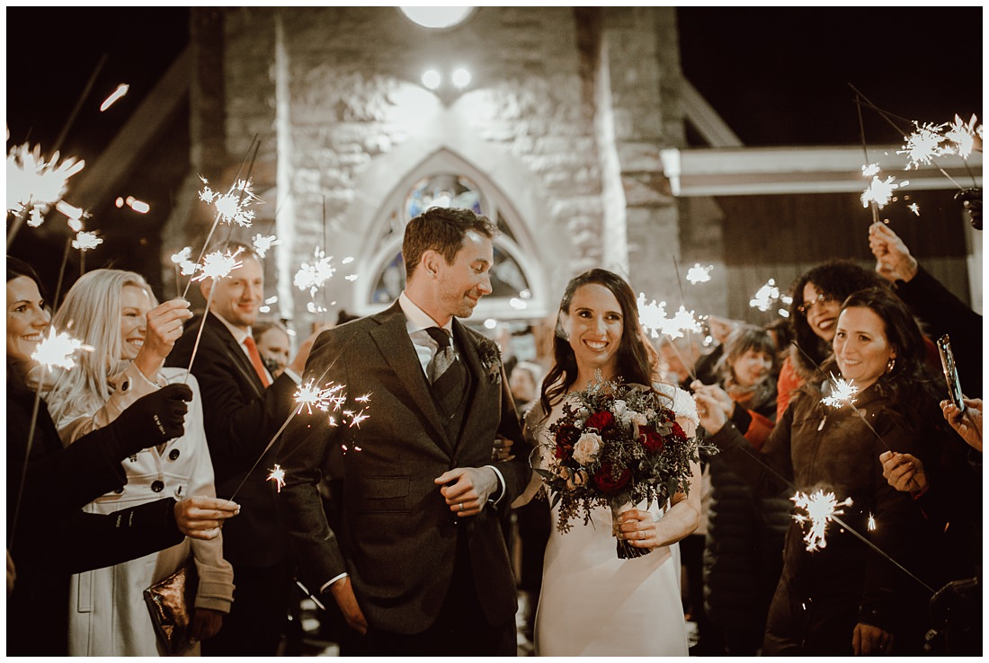 Sparklers Wedding Banff