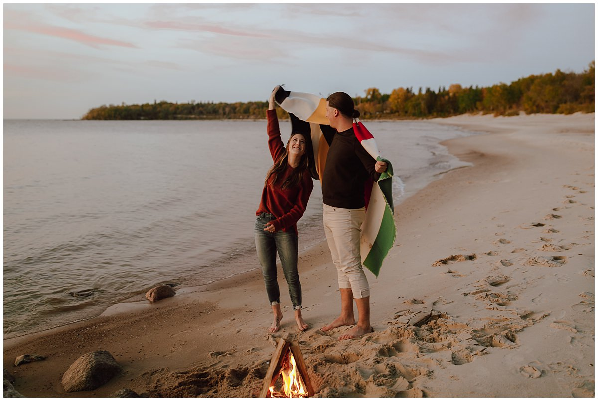 Lake Winnipeg Engagement Session